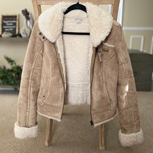Guess Suede Fluffy Jacket